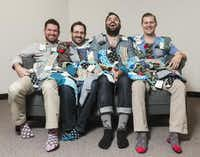 From left: Tom Browning, Matt McClard, Bryan DeLuca and Kelly Largent started Foot Cardigan in 2012. They now have over 4,000 subscribers.(Rex C. Curry - Special Contributor)