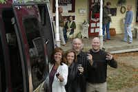 From left: Robbyn Wysocki, web designer Sheila Clevenger, Ladd Biro and Matt Childs brought their separate expertises to the Grapevine Wine Tours venture.