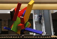 """20 Elements"" (2004-05) by Joel Shapiro is pictured at NorthPark Center in Dallas on Thursday, August 13, 2015.(Louis DeLuca - Staff Photographer)"