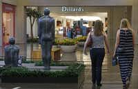 "The sculpture ""Three Places"" (1984) by Antony Gormley is pictured at NorthPark Center in Dallas on Thursday, August 13, 2015.Louis DeLuca - Staff Photographer"