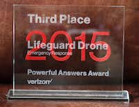 R.J. Tang, 43,of Plano, financial planner turned entrepreneur created a drone that helps rescue-drowning victims by dropping a flotation device. He came in 3rd in a Verizon contest and won $250,000. (David Woo/The Dallas Morning News)( David Woo  -  Staff Photographer )