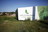 Ground was broken on Lake Highlands Town Center five years ago, but the economic crash stalled construction.