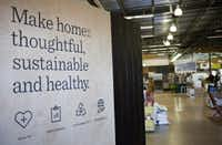 A sign greets customers upon entry to TreeHouse in Austin. (Thao Nguyen/Special Contributor)