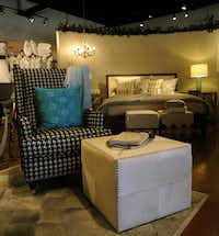 Peacock Alley's wares include comforters, bedding and chair pillows.