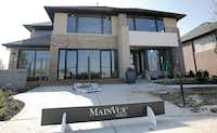 Exterior view of the MainVue Homes Carmel Q1 model home at Phillips Creek Ranch in Frisco, on Tuesday, February 17, 2015. (Vernon Bryant/The Dallas Morning News) 02272015xBIZVernon Bryant - Staff Photographer
