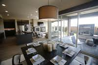 Breakfast area in the MainVue Homes Bellevue Q1 model home at Phillips Creek Ranch in Frisco, on Tuesday, February 17, 2015. (Vernon Bryant/The Dallas Morning News) 02272015xBIZVernon Bryant - Staff Photographer
