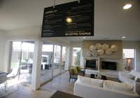 View from the kitchen area in the MainVue Homes Carmel Q1 model home at Phillips Creek Ranch in Frisco, on Tuesday, February 17, 2015. (Vernon Bryant/The Dallas Morning News)Vernon Bryant - Staff Photographer