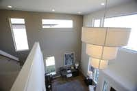View from upstairs looking down in the MainVue Homes Carmel Q1 model home at Phillips Creek Ranch in Frisco, on Tuesday, February 17, 2015. (Vernon Bryant/The Dallas Morning News) 02272015xBIZVernon Bryant - Staff Photographer
