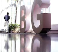 There's an I in big: Mary Kay sales reps can stand between B and G, part of the Dallas Convention & Visitors Bureau's ad campaign.