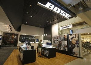 The Bose Products Section At The Nebraska Furniture Mart.(Louis  DeLuca/Staff Photographer