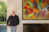 Romano's home is as much  a gallery for his contemporary art collection as it is a living space. Works of modernists hang with his own large-scale abstracts, which are typically explosions of intense, textured colors. Romano figures his paintings have fetched more than $1 million.(Kye Lee - Special Contributor)