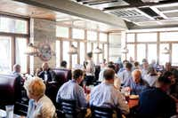 Hoffbrau's dining room was filled to capacity by noon during Monday's lunch rush. It's smaller than the West End restaurant but still has a bar and patio.