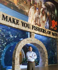 """Building the aquarium """"stretched every limit of discipline that we ever thought we would use,"""" G.L. Barron says."""