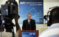 Jeff Fegan, retiring CEO of D/FW International, deserves credit for airport expansion, but he's leaving an expanding debt load, too.