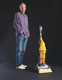 While James Dyson tidied up, Cheryl Hall picked up tips on resiliency.