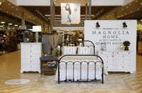 One of the new Magnolia Home displays at Nebraska Furniture Mart inThe Colony, on Tuesday, May 24, 2016. The new Magnolia Home by Joanna Gaines furniture now available at Nebraska Furniture Mart. (Vernon Bryant/The Dallas Morning News)