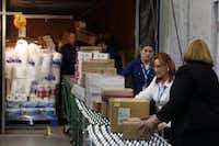 A station to train workers to unload merchandise from trucks is included at Wal-Mart's new Talent Center in Irving. The facility will handle all hiring and training for four key entry-level positions at 120 Supercenters and Neighborhood Markets in the Dallas-Fort Worth area.Michael Ainsworth - Staff Photographer