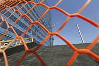 Construction continues of the sculpture garden on the east side of the KPMG Plaza.( David Woo  -  Staff Photographer )