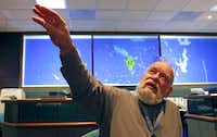 """Harvey Holden, a noise compatibility planner at D/FW Airport, tries to meet with everyone who complains about airplane noise. """"Our job isn't to make them happy,"""" Holden said. """"Our job is to make them informed."""""""