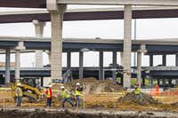 Construction on a new shopping center at the Granite Park office park on the southwest corner of SH 121 and the Dallas North Tollway photographed Wednesday, March 30, 2016, in Dallas. (Smiley N. Pool/The Dallas Morning News)(Smiley N. Pool - Staff Photographer)