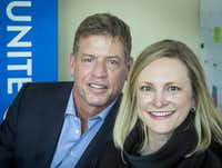 "Jennifer Sampson, CEO and president of United Way of Metropolitan Dallas, says that Troy Aikman came to the group and asked about setting up a donor-advised fund. ""It's a first for us and an exciting start for what I see as the future,"" she said.( Smiley N. Pool  -  Staff Photographer )"