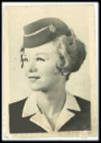 """Carole DiSalvo, who started with American at age 20, recalls that at the time, """"two years was truly about the maximum that you would expect to fly."""" This photo was taken during her training in 1958."""