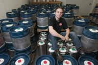 Wim Bens, president and head brewer at Lakewood Brewing Co., left his job as a creative director of an advertising company to open the brewery.