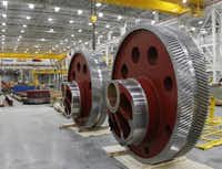 Seven-foot gears will be used in the presses at the General Motors stamping facility in Arlington.