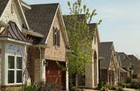David Weekley Homes hopes to build more close-in Dallas houses like these in Northeast Dallas.