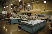 The salad bar and hot food area at the new Whole Foods Market Wednesday, August 5, 2015 in Uptown Dallas. The 43,387-square-foot store opens its doors on August 12. (G.J. McCarthy/The Dallas Morning News)