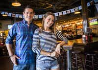 "Jared Smith and Stephanie Okorowski of Fillmore Pub: The folks who work at the Fillmore Pub say they can name who's in their restaurant pretty much any time of the day. The pub's door is plastered with fliers for community events, like the upcoming Downtown Plano Oktoberfest or the pub's pumpkin-carving contest. ""It's kind of a neighborhood vibe,"" said Jared Smith, manager of the pub. ""It's a way to get all the cool bars and pubs without having to go all the way [to] downtown [Dallas].""( Ashley Landis - Staff Photographer)"