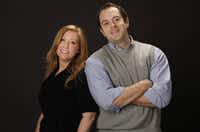 Brand Protection Agency's Jeff Borden, right, and Vickie Morris.