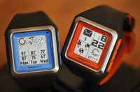 The Meta Watch uses Bluetooth to connect to a smartphone and display information so you don't have to look at the phone.