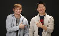 Stewart Youngblood, left, and Harry Ting of Obvious Apps have known each other since growing up in Plano together.