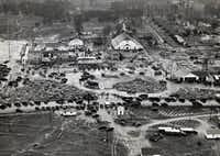 """Shot March 19, 1937 - (from Wikipedia) The New London School explosion occurred on March 18, 1937, when a natural gas leak caused an explosion, destroying the London School of New London, Texas[1], a community in Rusk County previously known as """"London."""" The disaster killed in excess of 295 students and teachers, making it the worst catastrophe to take place in a U.S. school building."""
