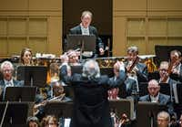 Conductor Donald Runnicles perfroms with The Dallas Symphony Orchestra on Thursday, Jan. 14, 2016 at the Meyerson Symphony Center in Dallas.( Ashley Landis  -  Staff Photographer )