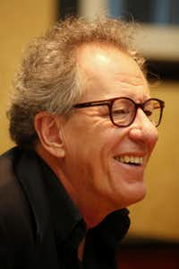 Actor Geoffrey Rush pictured at a press conference for the movie The Book Thief on November 6, 2013 at the Ritz-Carlton Hotel in Dallas. The movie is based off author Markus Zusak's book.