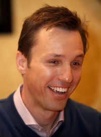Author Markus Zusak pictured at a press conference for the movie The Book Thief on November 6, 2013 at the Ritz-Carlton Hotel in Dallas. The movie is based off author Markus Zusak's book.