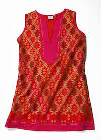 Sheridan French Georgina tunic, $398, from a collection at Cabana and Elements in Dallas, Meadow in San Antonio and www.sheridanfrench.com