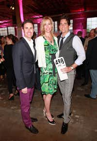 With Wagner and Emily Wyly at the Dallas Contemporary's Wish! art auction, May 2010