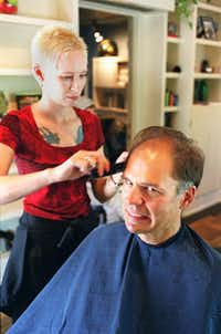 Stylist Annette Jensen helped not-so-sure-about-this Steve get a makeover for F!D in April 2001.( File Photo  - Evans Caglage)