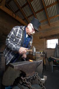 Blacksmithing is one of the farm demonstrations planned for the New Mexico Farm & Ranch Heritage Museum's Cowboy Days Festival. The event is March 8-9, 2014.