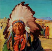 """Gerald Cassidy's Master of Ceremonies will be on display at the New Mexico Museum of Art's """"Southwestern Allure"""" exhibition.New Mexico Museum of Art"""