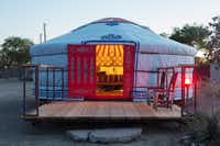 El Cosmico, owned by Liz Lambert, has now acquired an authentic Mongolian yurt through Groovyyurts. Travelers can stay in the yurt for $110 to $120 per night. For regional notes in the Travel section.Nick Simonite  -  Nick Simonite