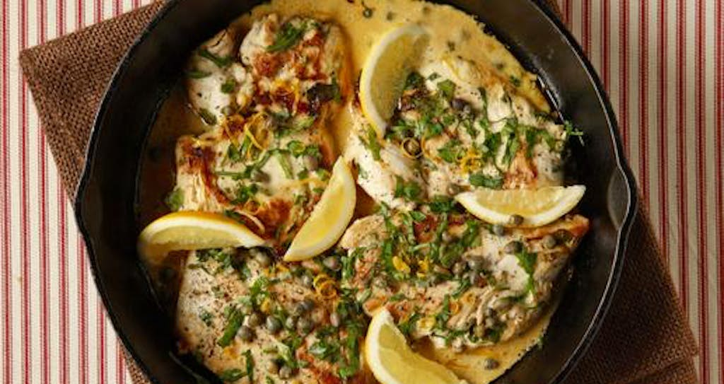 Chicken piccata in a cast iron skillet recipes dallas news evans caglage staff photographer food styling by jane jarrellspecial contributor forumfinder Gallery