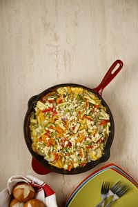 Looking for a tasty meal on the cheap? Frittata With Seasonal Produce is among the recipes we've cooked up.