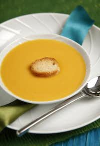 You can do much of the preparation for Parmigiano Reggiano and Butternut Squash Soup a day ahead.