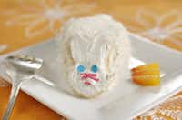 For the kids: Bunny cakes are made from cake shells and a bunny cookie kit from a cake-decorating collection.
