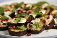 Roasted Eggplant with Saffron Yogurt.