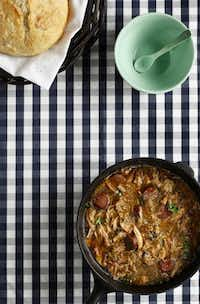 Use commercially available roux for this classic gumbo recipe, or make your own according to the instructions given.Evans Caglage - Staff Photographer; styling by Jane Jarrell/Special Contributor